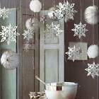 Christmas Xmas Tree Snowflakes Baubles Hanging Home Party Ornament Decorations
