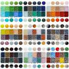 1Box 1000pcs 10Colors 4x3mm Rondelle Glass Beads Beading Kit for Jewelry Making