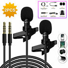 Omnidirectional Lapel Microphone Compatible with Most Devices