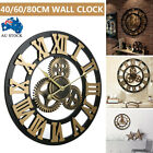 Handmade Clock Large Gear Wall Clock Moden Rustic Wooden Luxury Art Artwork