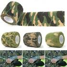 Camouflage Cloth Tapes Hunting Camping Camo Duct Wrap Stretch Bandage Outdoor