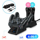 4 in 1 USB Controller Charger Dock Station Charging Stand for PS4/Slim/Pro PS VR