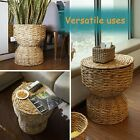 Multipurpose Hand Woven Water Hyacinth Wicker Basket Hamper Seat for Laundry, St