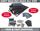 40 X Strong Mailing Bags All Sizes Grey Plastic Postage Postal Poly Mailer Bags