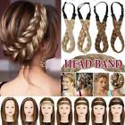 Thick Plaited Braided Headband Chunky Hair Extensions Real as Human Hair Band US