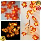 LED Maple Leaves Garland Fairy String Light Halloween Decoration Event Party NEW