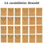 12 Constellations Symbol Bracelet Red Black Rope Couple Women Card Jewelry Gift