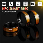 NFC Smart Wearable Ring Magic 8 Sizes Gold For Windows iOS Android Mobile Kit