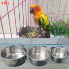 Bird Parrot Food Water Stainless Steel Bowl Cups Pigeons Cage Cup Feeding Feeder