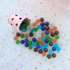 Lot 20 100X Grind Arenaceous Marbles Glass Beads Kid Toy Fish Tank Decorate 16mm