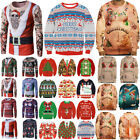 Unisex Mens Womens Christmas Sweater Sweatshirt Jumper Pullover Party Funny Tops