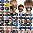 Fashion Washable Reusable Facemask Half Mouth Mask0 Pm2.5 With 5 Layers Filter