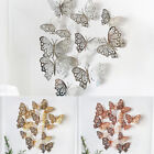 12pcs Butterfly Wall Stickers Art Decals Home Room Decorations Decor Kids Pack