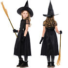 Kids Girls Wicked Witch Costume Witches Halloween Cosplay Fancy Dress Outfit