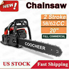 COOCHEER 62CC 20 Gas Chainsaw Handed Petrol Chain Woodcutting 2 Cycle 4HP e 238