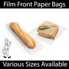 White Clear Film Front Paper Bags Food Sandwich Pastries Cellophane Window Bag
