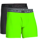 Under Armour Men's 2 Pack Boxerjock 6-inch Boxer Briefs Carbon Heather Green Siz