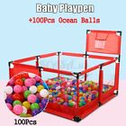 Baby Playpen Portable Playard Toddler Kid Activity Center Safety Panel Fence