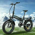 20INCH 500W Folding Electric Bike Fat Tire Mountain Bicycle 12.5Ah Snow b e 08