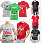 Mens Womens Novelty Print TShirt Funny Tee Rude Joke Xmas Top Gift Unisex New