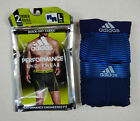NEW 2 Adidas Climalite Performance Blue Navy Mens Boxer Briefs L 36-38 XL 40-42