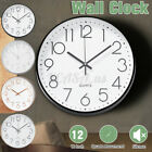 12 Inch Wall Clock,Silent Non-Ticking Quartz Battery Operated Round