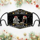 Schitt's Creek You Just Fold It In Ugly Sweater Christmas Mask, Reusable 3D