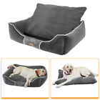 Grey Grainy Extra Large Dog Beds Thick/Soft Pet Dog Nest Cushion Washable S-XL