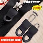 Detachable Universal Zipper Puller Set With Anti-slip Particles S/m Black Uk