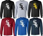 Chicago White Sox MLB LOGO Black UNISEX Multi Color Long Sleeve T-Shirt - S-3XL