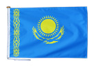 Kazakhstan Flag With Rope and Toggle - Various Sizes