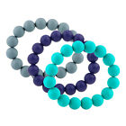 Nuby Teething Trends Bracelet - 100% Soft Silicone Teether - Colorful - BPA Free