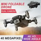Mini Drone Selfie WIFI FPV Dual HD Camera Foldable RC Withdrawn Quadcopter Toy