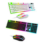 Gaming Gamer Wired Colorful LED Light Keyboard Mouse And Headphones Headset USA