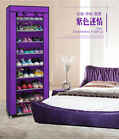 Room-saving 10-Layers 9 Lattices Non-woven Fabric Shoe Rack Storage Container