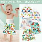 2 in 1 Comfy Infant Baby Diaper Skirt Waterproof Absorbent Washable Shorts Pants