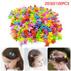 20/50/100 Pcs Kids Girls Mini Butterfly Hair Clips Hairpins Clamps Mixed Color