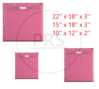 NEW PINK COLOURD PATCH HANDLE PLASTIC CARRIER BAGS RETAIL SHOP STORE