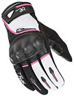 Joe Rocket Black/White/Pink Womens Super Moto Textile Motorcycle Gloves