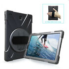 For Samsung Tab S2 S3 8.0 / 9.7 Tablet Soft Rubber Case Stand Hand Strap Cover