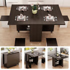 3IN1 Rolling Dining Table Set Kitchen Storage Trolley Room Breakfast Furniture