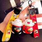 Jewelr Accessories Key Ring Ribbon Key Holder Lucky Beckoning Cat Maneki Neko