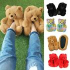 3D Teddy Bear Plush House Slippers Winter Fuzzy Warm Slip-On Home Shoes Slides
