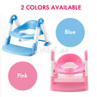 3 in 1 Kids Baby Potty Training Seat Todder Toilet Trainer Chair W/ Ladde