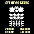 60 Mix Size Stars Wall Stickers Kid Decal Art Nursery Bedroom Vinyl Decoration D