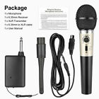 Professional Wired Wireless Microphone Handheld Mic System+Receiver for Karaoke