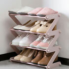 Simple Multi-layer Shoes Rack Stainless Stackable Storage Shelf Room Organizer