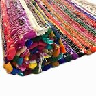 Chindi Rag Rug 100% Recycled Fabrics Runner Handmade Striped Mat Fair Trade Loom