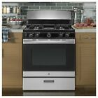"Gas Range Gas Stove Cooktop 4 Burner Freestanding 30"" 4.8 cu Stainless Steel USA photo"