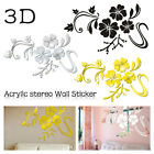 Flower Acrylic Sticker Home Decoration Mirror For Living Room Diy 3d Home Decal